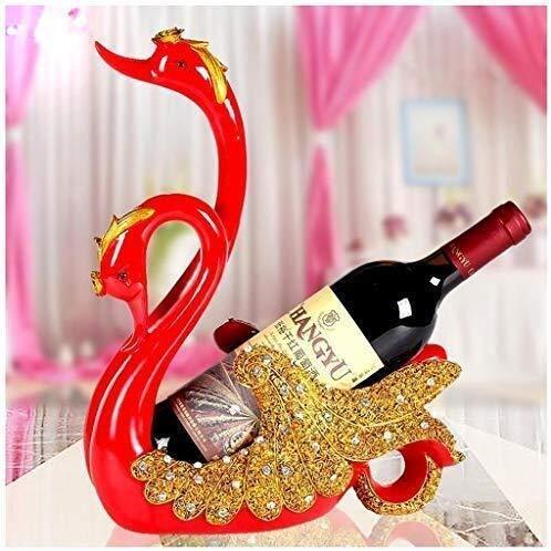 DNSJB - Vinero de cisne para decoración creativa del hogar, decoración de gabinete de vino, manualidades (color: rojo)