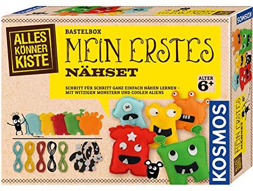 Kosmos 604394 Mein erstes Nähset Nähen Lernen für Kinder, Bastel-Set
