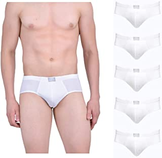 Force NXT Men's White Cotton Ace Brief (Pack of 5)