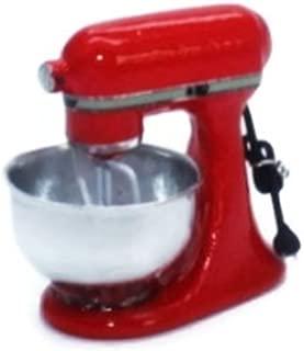 ChangThai Design Vintage Red Bread Dough Mixer Machine Dollhouse Miniature