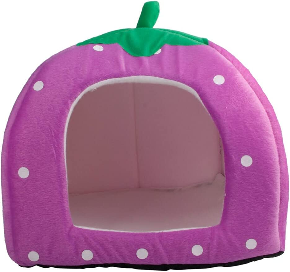 HYZX Purple Soft Cotton Cute Strawberry sale Pets Style Ranking integrated 1st place Multi-Purpose