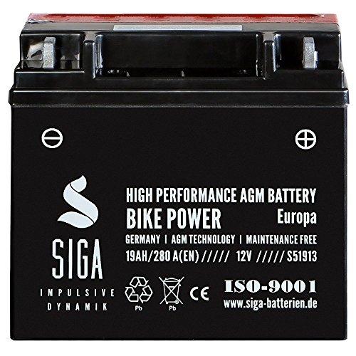 Motorrad Batterie 51913 AGM 19Ah 12V 280A/EN für Motorrad mit ABS 52001 52101 12N19AH GT20H-3