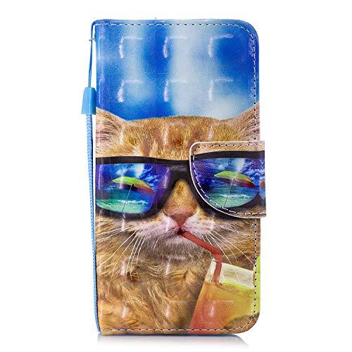 Lomogo Samsung Galaxy S7 / G930 Hülle Leder, Schutzhülle Brieftasche mit Kartenfach Klappbar Magnetverschluss Stoßfest Kratzfest Handyhülle Case für Samsung Galaxy S7 - LOHEX26628#7