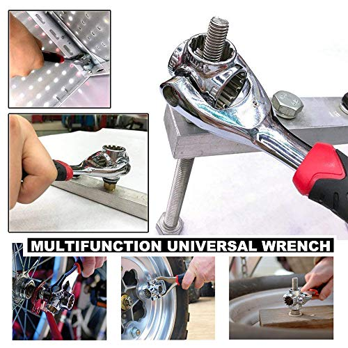 Universal Wrench 48 in 1 Socket Wrench Multifunction Wrench Tool with 360 Degree Rotating Head, Spanner Tool for Home and Car Repair