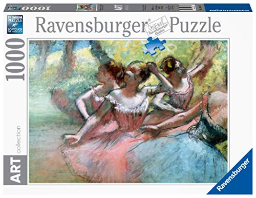 Ravensburger, Puzzle 1000 Pezzi, Arte, Collezione Dipinti, Quadri d'Autore, Pittori Famosi, Le ballerine, Degas