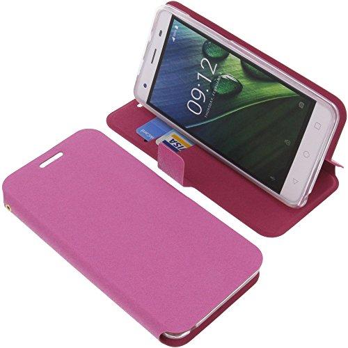 foto-kontor Tasche für Acer Liquid Z6E Book Style pink Schutz Hülle Buch