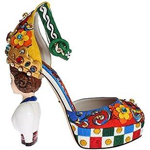 Dolce & Gabbana - Multicolor Carretto Brocade 39 Size Platform Shoes