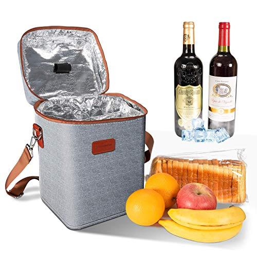 Ventvinal13LKühltaschePicknicktascheLunchTasche,MultifunktionalOxfordTuchWeinkühltaschefür4Flaschen,mitGriffenundEinstellbareSchultergurten,fürPicknicks,SträndeundPartys