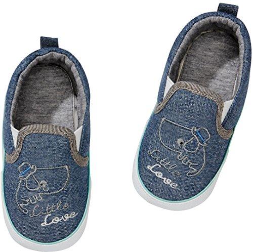 Golden Lutz® Baby Sneaker Canvas Turnschuhe Little Love (Jeans blau Taube, Gr. 21) | LUPILU