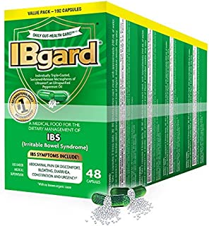 IBgard� for The Dietary Management of Irritable Bowel Syndrome (IBS) Symptoms Including, Abdominal Pain, Bloating, Diarrhea, Constipation�*, 192 Capsules (4 Pack)