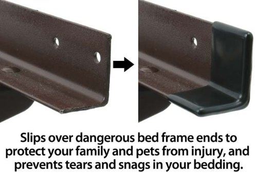 """1 1/2"""" GashGuards: Deluxe Plastic Bed Frame End Caps, Sheet Savers, Set of 2"""