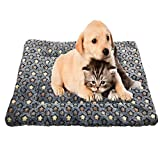 KJLM Pet Mat Pet Beds Super Plush Dog & Cat Beds Ideal for Dog Crates Anti-Slip Machine Washable Pad Dog Crate...