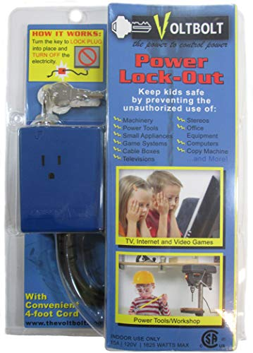 VoltBolt Power Plug Lock-Out - The Power to Control Power - Keyed Different