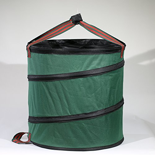 Learn More About Yugust Lawn Leaf Bag, Collapsible Garden Waste Bag Spring Garbage Bucket Yard Trash...