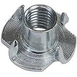 BB Sport Tuercas con 4 dientes acero galvanizado M10 x 13 x 25 mm, Cantidad:100 piezas