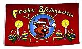 Flagge / Fahne Frohe Weihnachten Elch 90 x 150 cm
