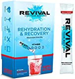 Revival Rapida Reidratazione, Elettroliti in Polvere - Supplemento alla Vitamina C ad Alta Resistenza, Bevanda Reidratante, Bustine di Elettroliti Effervescenti per L'idratazione – Ciliegia 6 Pacco