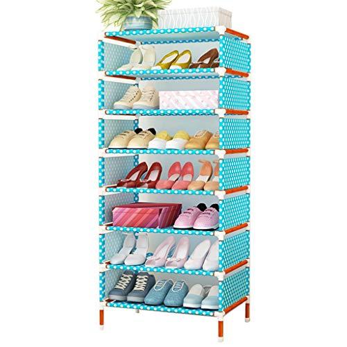 Gabinete organizador de almacenamiento de zapatero Zapatero portátil cubierto con organizador de zapatos de tela no tejida Zapata de estante de pasillo de entrada de unidad ( tamaño : Eight layers )