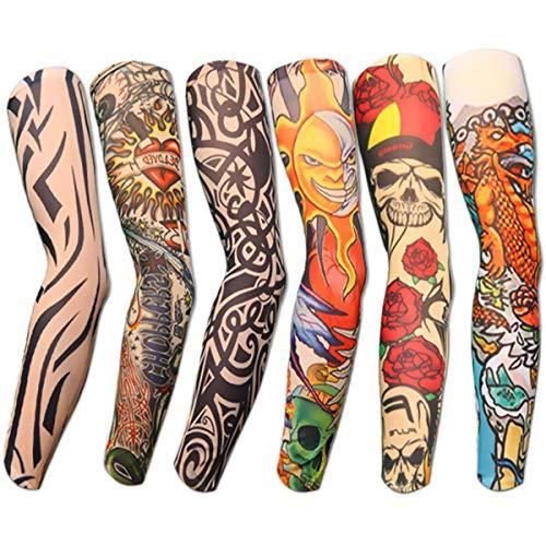 6pcs Set Arts Fake Temporary Tattoo Arm Sunscreen...