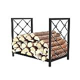 FUFU Soporte de malla para chimenea, soporte para leña de madera, cesta de metal de hierro forjado para interior de leña, soporte para chimenea, soporte decorativo B