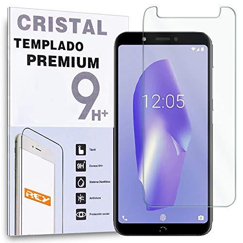 REY - Protector de Pantalla para BQ AQUARIS C - VSMART Joy 1, Cristal Vidrio Templado Premium