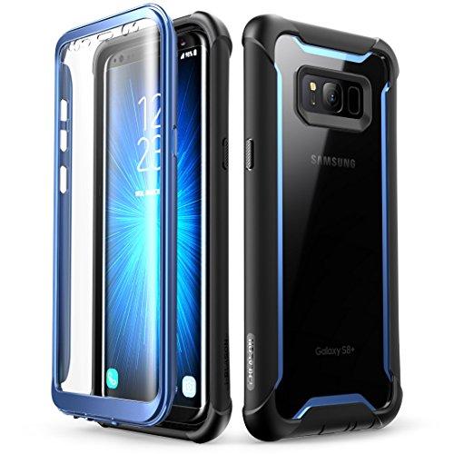 i-Blason Coque Samsung Galaxy S8 Plus, Coque Transparente Antichoc Bumper avec Protecteur d'écran Intégré [Série Ares] pour Galaxy S8 Plus 2017 (Bleu)