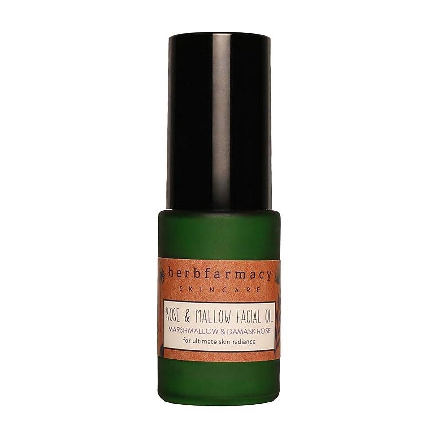 バージン冷笑するキャリッジハーブファーマシー (herbfarmacy) ローズ アンド マロー フェイシャル オイル 〈美容オイル〉 (25mL)