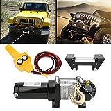 Kit de cabrestante de accesorios mecánicos cabrestante de cuerda sintética para vehículos industriales cabrestante eléctrico de doble uso 12V 4500lb para SUV para coche para Jeep