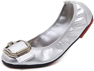 : Blanc Ballerines Chaussures plates