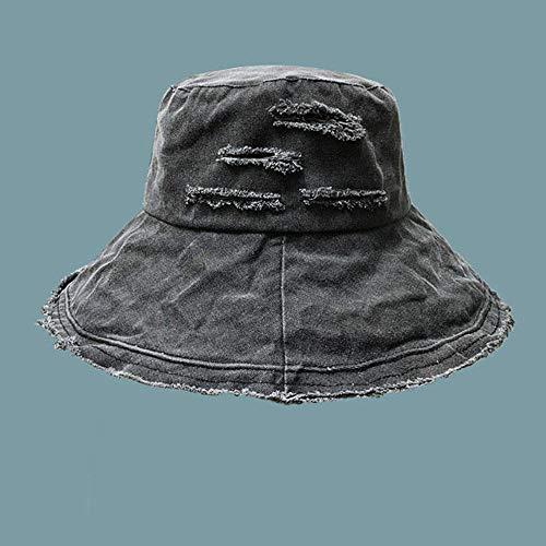 MIBQM Unisexo Gorros de Pescador Sombrero de Primavera y Verano Hermosa Holanda Sombrilla de protección Solar-Gris Oscuro