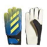 adidas X Lite Soccer Goalie Gloves Football Blue/Solar Yellow/Black Size 11