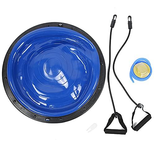 con Bola de Equilibrio de Yoga con Cuerda de tracción, Bola de Fitness, balón de Equilibrio Antideslizante, para Ejercicios de Yoga(Blue)