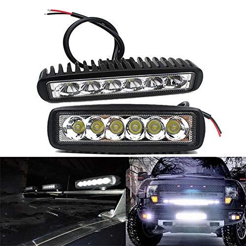 FDSEK 18W LED Auto Arbeitsscheinwerfer Scheinwerfer Technik Zusatzscheinwerfer Maschinenbeleuchtung (2 STK.)