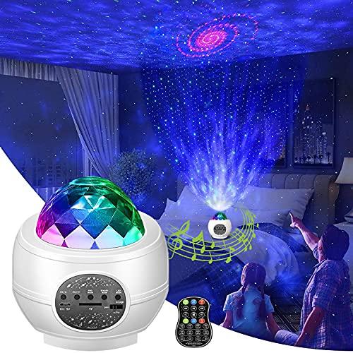 Otufan LED Sternenhimmel Projektor, Galaxy Sternenprojektor Lampe Nachtlicht für Baby Kinder Erwachsense mit RGB Dimming/Musikspieler/WiFi Verbindung/Bluetooth