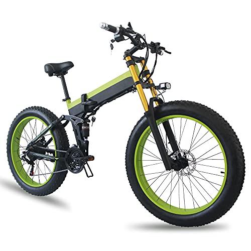 TGHY Bicicleta de Montaña Eléctrica Bicicleta Eléctrica Plegable de 1000W 21 Velocidades...