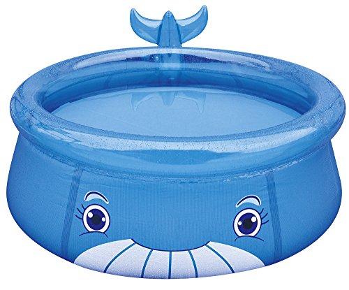 Jilong Whale Pool Ø 175 x 62 cm Quick-Up Kinderpool im Wal Design Planschbecken Kinder Schwimmbecken Schwimmbad für Garten und Terasse