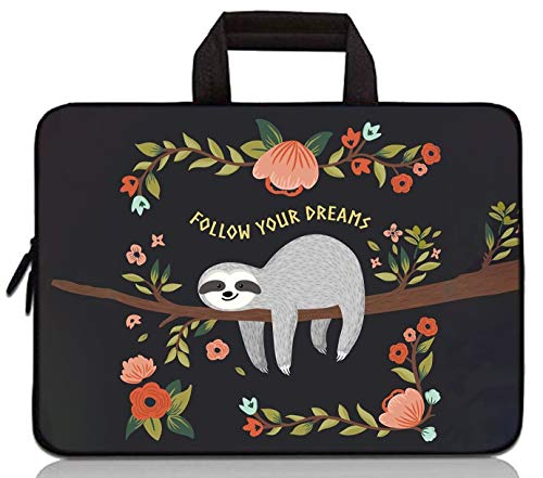 RUYIDAY 11 11.6 12 12.1 12.5 inch Laptop Carrying Bag Chromebook Case Notebook Ultrabook Bag Tablet Cover Neoprene Sleeve Fit Apple MacBook Air Samsung Acer HP DELL Lenovo Asus (Sloth)