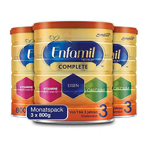 Enfamil Premium Complete 3 Kindermilch Pulver - Kindermilch für Kinder von 1 bis 3 Jahren - Monatspack 3 x 800 g