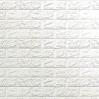 Happytoys 70x77cm PE Foam 3D Wall Stickers Safty Home Decor Wallpaper Sticker,white