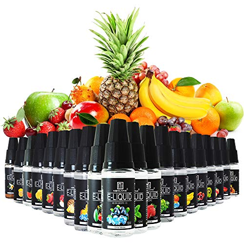 Maxiliving 20er x 10ml E Liquid 0,0mg Nikotin 20 Aromen e-liquid für...
