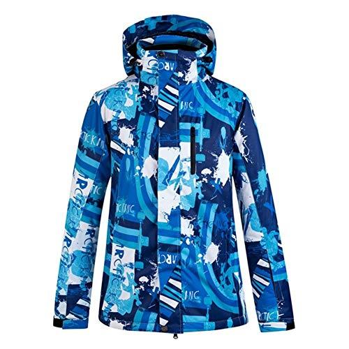 Minicocock Winter Warm Thick Skijacke Männer im Freien Wasserdichten Winddichte Kleidung Ski Anzug Snowboard Jacke Snowboard Wear (Color : Blue, Size : XL)