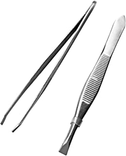 Chiconon Eyebrow Clippers Beauty and Makeup Tools Stainless Steel Tweezers Eyebrow Repair Clip Tweezers 2Pcs