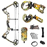 iGlow 40-70 lbs God's Country Late Season Camouflage Camo Archery Hunting Compound Bow with Premium Kit lb Crossbow