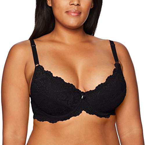 Smart+Sexy Women's Plus Size Curvy Signature Lace Push-up Bra with Added Support, Black, 42C