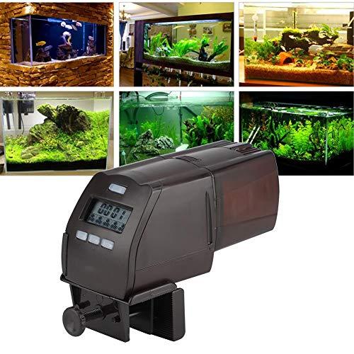 LSAR Dispensador de Comida para Peces, alimentador de pecera, Pantalla LCD programable automático para alimentación de Peces granular
