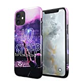 No Sleep Rave Queen DJ Neon Festival EDM Rattle Groovy Hard Thin Plastic Phone Case Cover For iPhone 11