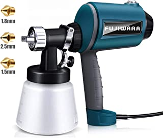 Paint Sprayer Electric HVLP Airless Paint Gun with 3 Spray Patterns, 3 Chrome-Plated Nozzle Sizes, Adjustable Valve Knob, 900ml Detachable Container from FUJIWARA