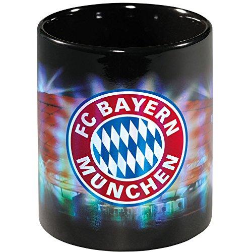FC Bayern München Tasse/Kaffeetasse/Kaffeepott/Mug/Becher - Arena Metallic FCB - Plus gratis Aufkleber Forever München