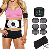 Abs Trainer Muscle Toner, Ab Belt Abs Stimulator Electronic Abdominal Muscle Stimulator Toning Belt for Men and Women