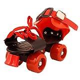 Wasco Men's Red Skates-3 Shoe Racer Quad Roller Skates - 16-22 UK